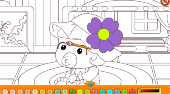 Happy Baby Coloring