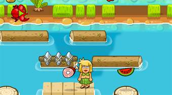 Adam and Eve Crossy River | Online hra zdarma | Superhry.cz